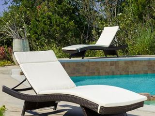 Salem Outdoor Chaise lounge Cushion  Set of 2  by Christopher Knight Home Retail 171 99