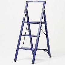 Empower Ultraslim 3 Step lightweight ladder Navy Blue