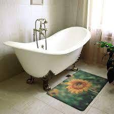 Smith Sunflower Bath Mat 17 x 24   Green