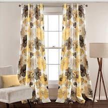 PAIR OF lush Decor leah Room Darkening Curtain Panels