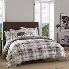 FUll  QUEEN Eddie Bauer Alder Plaid Comforter Set Retail 103 90