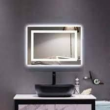 Zimtown Square Touch lED Bathroom Mirror   28  x 36