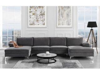BOX 3 3 ONlY  Modern Xl Velvet Upholstery U shaped Sectional Sofa Retail 1085 99