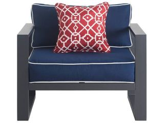 Tommy Hilfiger Monterey Outdoor Arm Chair  Gray Gunmetal  Retail 309 99