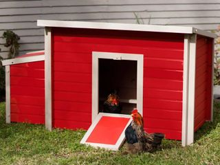 New Age Pet ecoFlEX Fontana Chicken Barn  Red