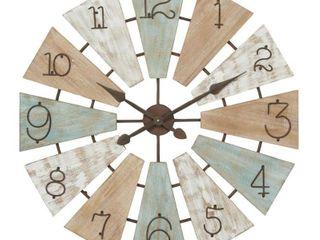 32  x 32  Extra large Round Wood Windmill Faced Wall Clock   Olivia   May