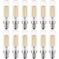 luxrite Vintage E12 lED Bulb 60 W Equivalent   12 Pack
