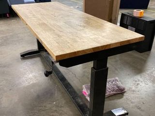 Adjustable Height Workstation Table