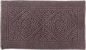 Better Trends Timeless Jacquard Collection 21 x 34 inch Timeless Stone Wash Burgundy Floor Mat