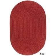 Rhody Rug Woolux Wool 12x18 inch Braided Rug  Dark Red