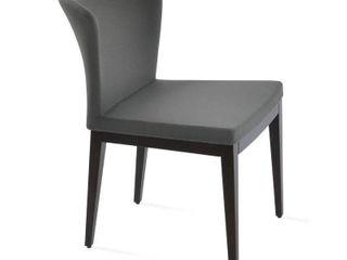 Capri 19  W Faux leather Side Chair
