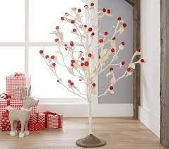 Red   White Felt Standing Tree   Christmas Decorations