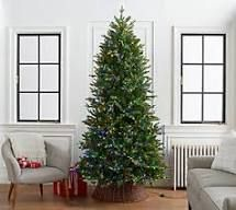 Home Reflections 7 5 ft Green Tree with Color Flip Fairy lights