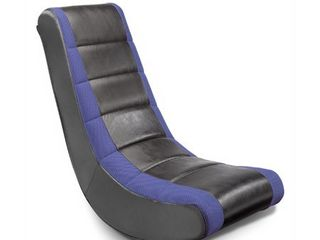 Video Rocker Gaming Chair Black Blue   The Crew Furniture
