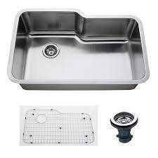 Empire 32 Inch Undermount Single Bowl 16 Gauge Stainless Steel Kitchen Sink with Soundproofing  Retail 235 99