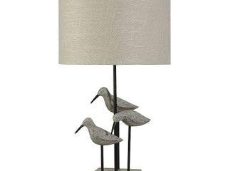 StyleCraft Chittaway Bay Gray Table lamp   White Hardback Fabric Shade  Retail 116 99