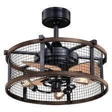 Carbon loft Montrese Oil Rubbed Bronze Teak 21 inch Ceiling Fan   21 in W x 17 in H x 21 in D   Retail 229 00