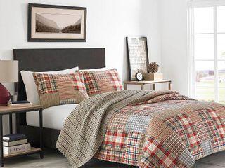 King   3 Piece  Eddie Bauer Hawthorne Cotton Quilt Set  Retail 114 68