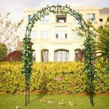 Kinbor Outdoor Garden Arch  Steel Arch Arbor for Climbing Vines and Plants  7 6  High x 5  Wide  Outdoor Garden lawn Backyard