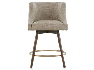 Madison Park Quarry Grey Swivel Counter Stool   Retail 247 99