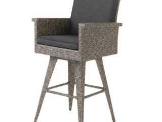 Puerta Outdoor Wicker Barstool with Cushions by Christopher Knight Home  Retail 275 49