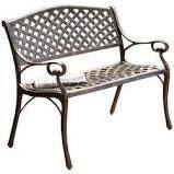 Outdoor Cast Aluminum Patio Garden Bench  Retail 182 99 bronze