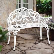 Patio Premier Rose Garden Park Bench  White  Retail 163 76