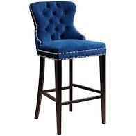Abbyson Versailles 30 inch Navy Blue Tufted Bar Stool 1 only   Retail 316 99