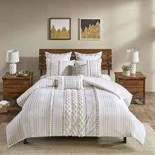 The Curated Nomad Clementina Cotton Printed Chenille Comforter Set  Retail 117 32 ivory cal king