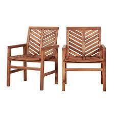 Elephant Point Chevron Chat chairs Set of 2 by Havenside Home brown