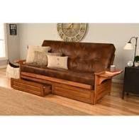 copper Grove dixie honey oak full size futon