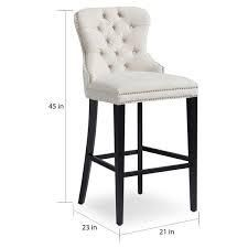 Abbyson Versailles 30 inch Ivory Tufted Barstool  Retail 204 99 1 only