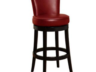 Boston Bonded leather Swivel Bar Stool 1 only  Retail 346 49 red leather black base