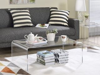 Clear Acrylic Coffee Table only Retail 287 19