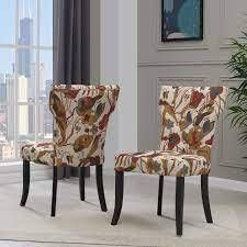 Copper Grove Fosses Handy living Upholstered Dining Chairs   Set of 2  Retail 353 49