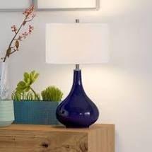 Carson Carrington Sagmyra Navy Blue Table lamp  Retail 77 98