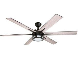 Honeywell Kaliza lED 6 blade Espresso Ceiling Fan w  Remote   56 inch  Retail 209 98
