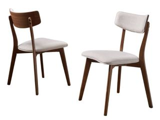 Chazz Mid century Dining Chair by Christopher Knight Home  Set of 2  Retail 152 02