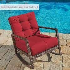 Pheap Outdoor Wicker Rocking Chair by Havenside Home  Retail 171 49