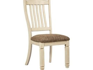 Bolanburg Dining Upholstered Side Chair  White Brown   Side Chair  Retail 168 49