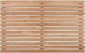 Nordic Style Natural Teak Shower And Bath Mat For Indoor And Outdoor Use   Pool