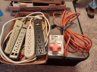 4 Power Strips  3 Way Adapter and Extension Cord