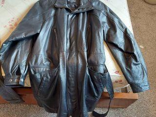 leather Coat   Size l