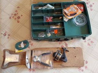 Tackle Box with Contents and other Fishing Supplies