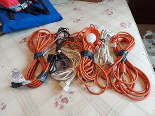 Assorted Extension Cords   All Missing Ground Plugs