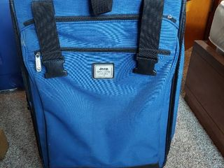 Blue Suitcase on Wheels