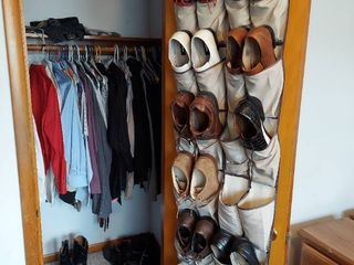 Contents of Closet   Shoes and Clothes