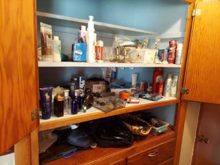 Contents of Hall Cabinet and Drawers