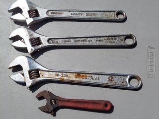 4 Adjustable Wrenches    3  12in and 6in