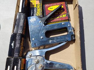 Assorted Staplers and Staples